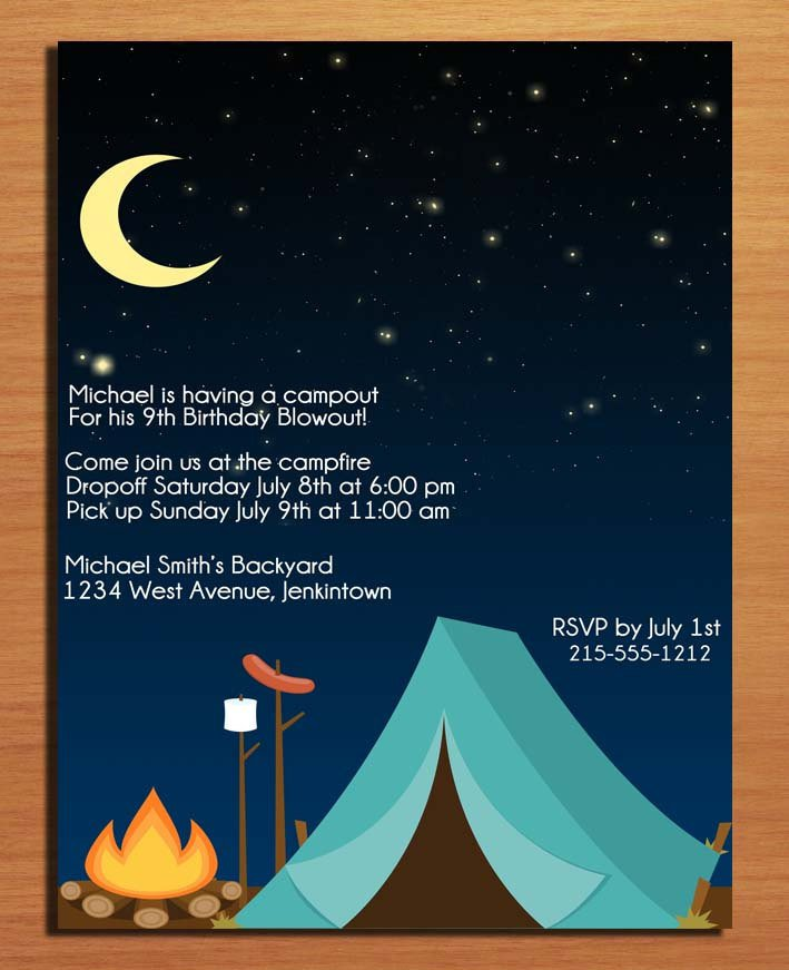 Camping Party Invitation Templates