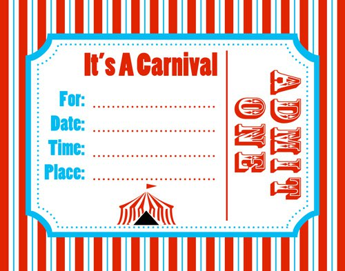 Carnival Invitations Printable Free