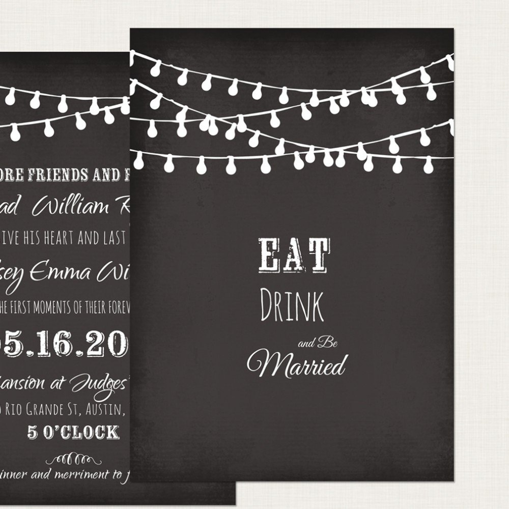 Chalkboard Invitation Maker Free