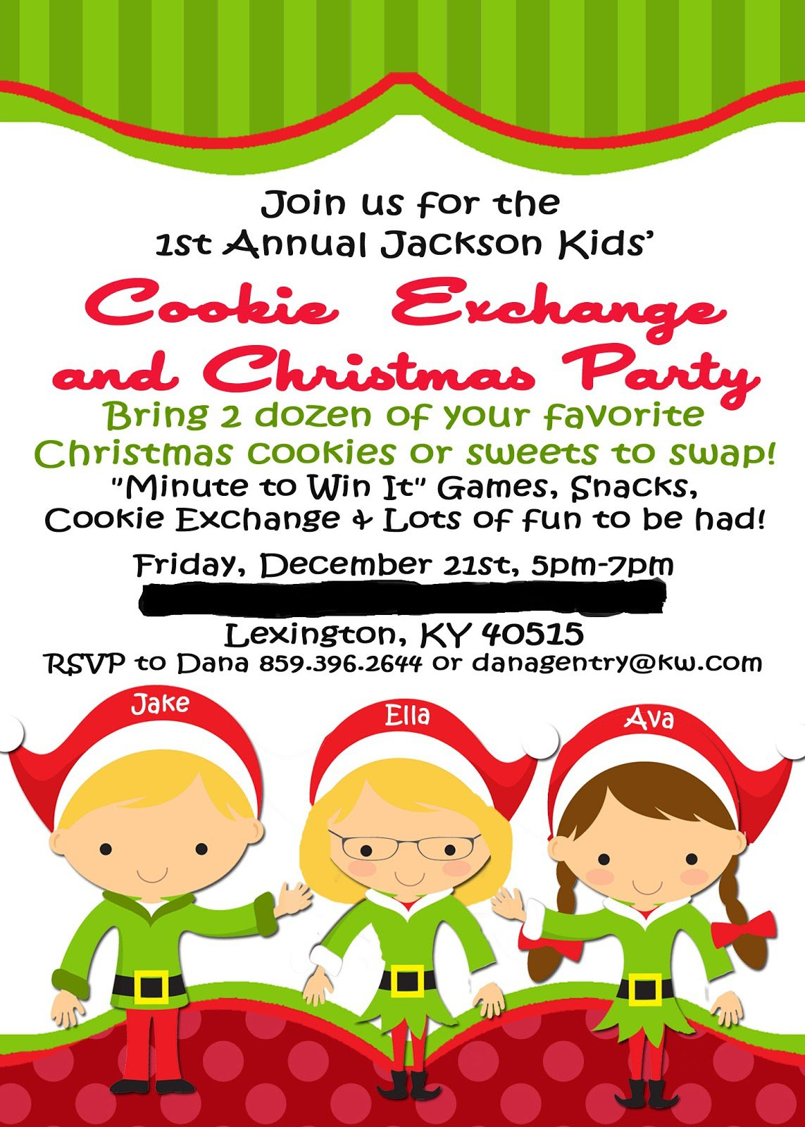 Christmas Eve Party Invitations Printable