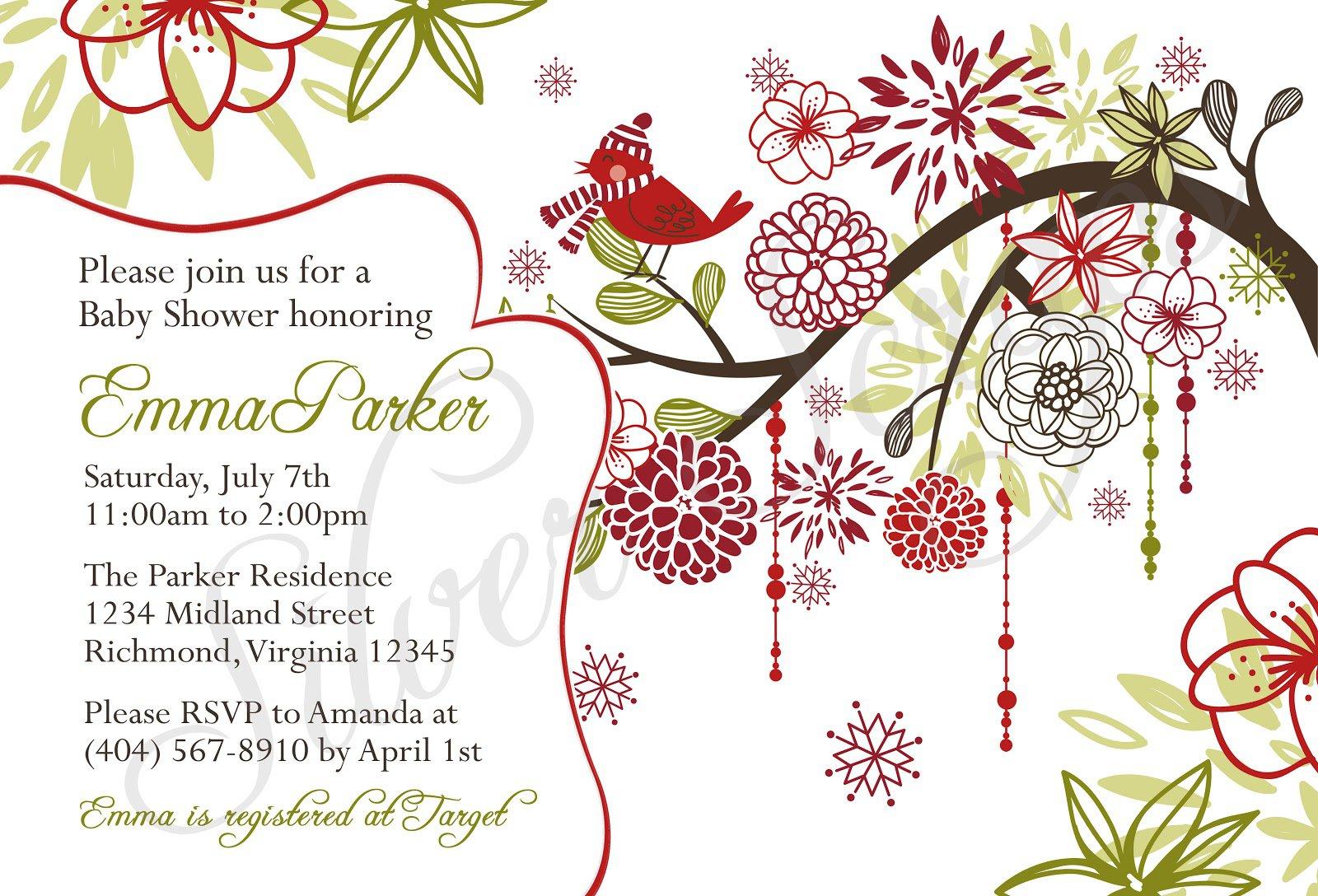 Christmas Invitations Pinterest