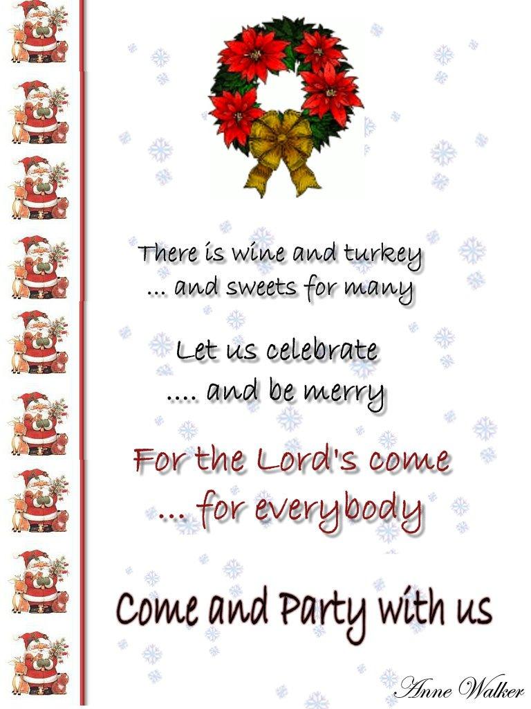 Christmas Party Invitation Wording Ideas Funny