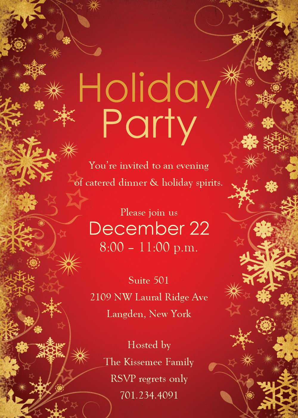 Christmas Party Invitations Free Templates Word
