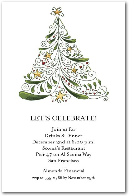 Christmas Party Invitations Pinterest