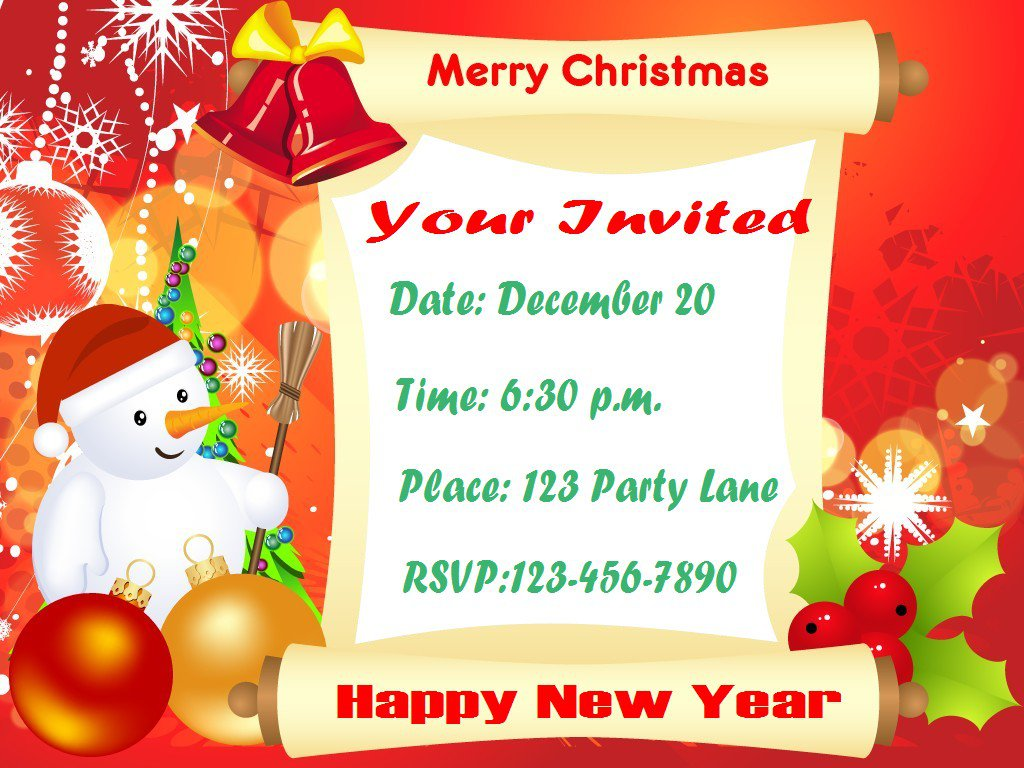 Christmas Party Party Invitation Templates