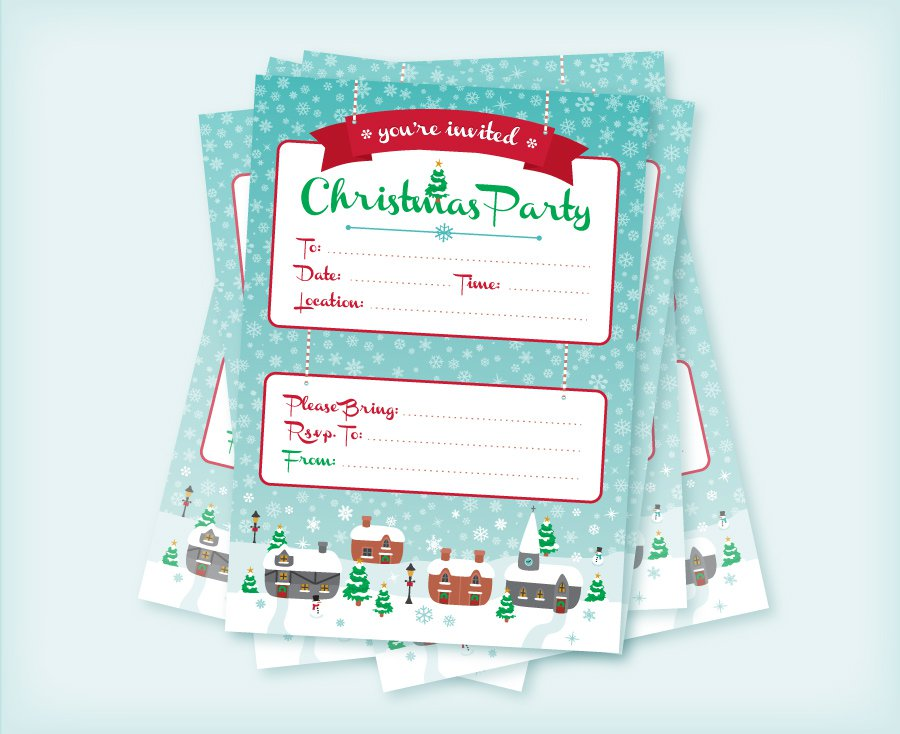 Christmas Tea Party Invitations Free