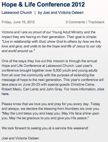 Church Conference Invitation Letter Sample