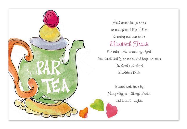 Church Tea Party Invitation Wording