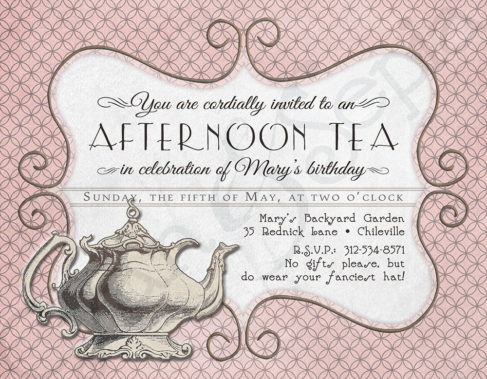 Church Tea Party Invitations