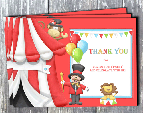 Circus Carnival Invitation Printable