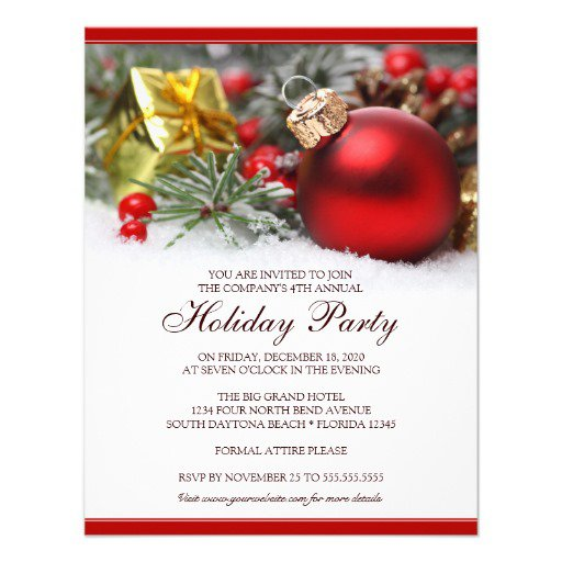 Company Christmas Party Invitations Wording
