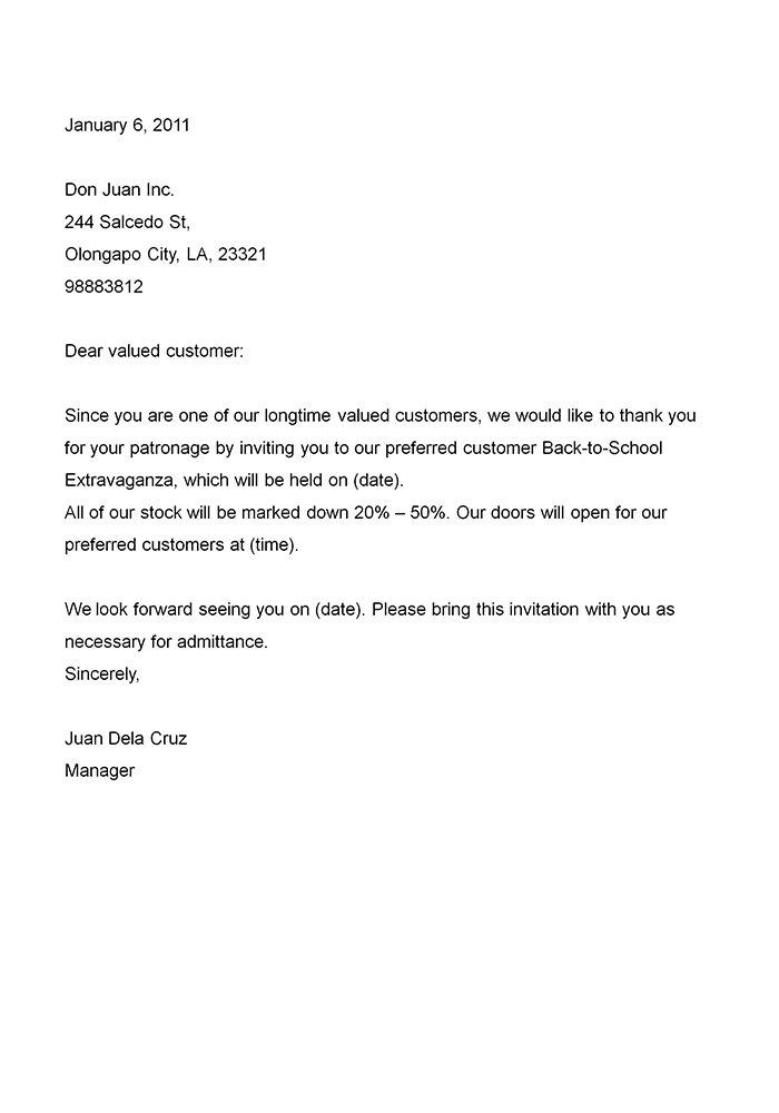 Invitation letter sample company invitation letter sample stopboris Images
