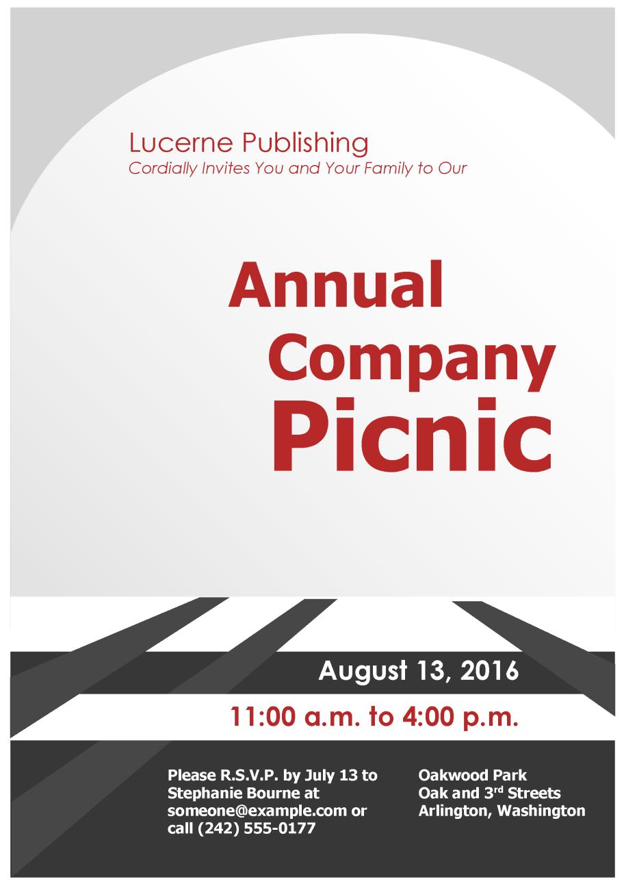 Company Picnic Invitations