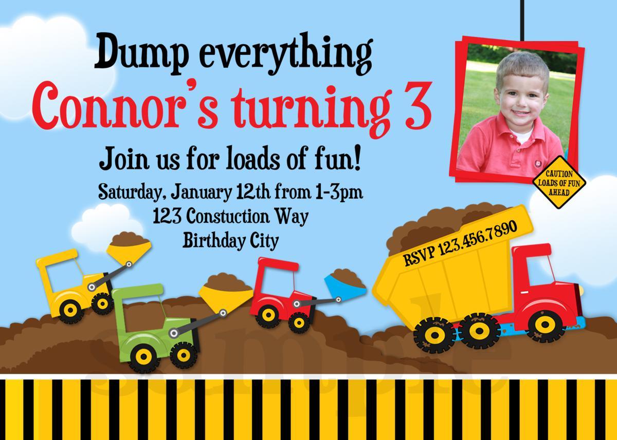 Construction Party Invitation Templates