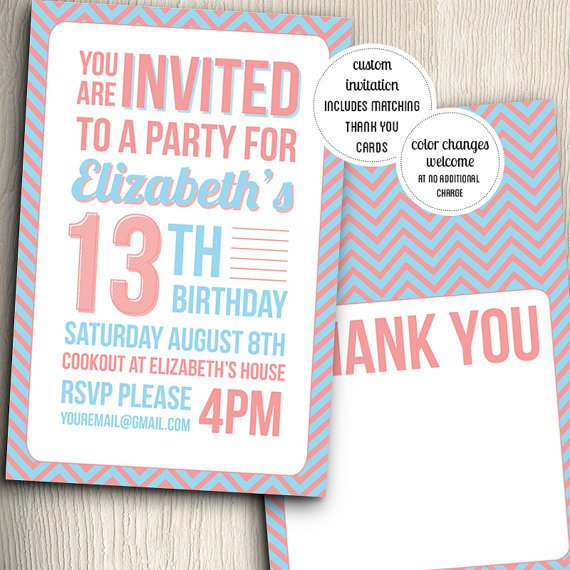 Cool Teenage Birthday Party Invitations
