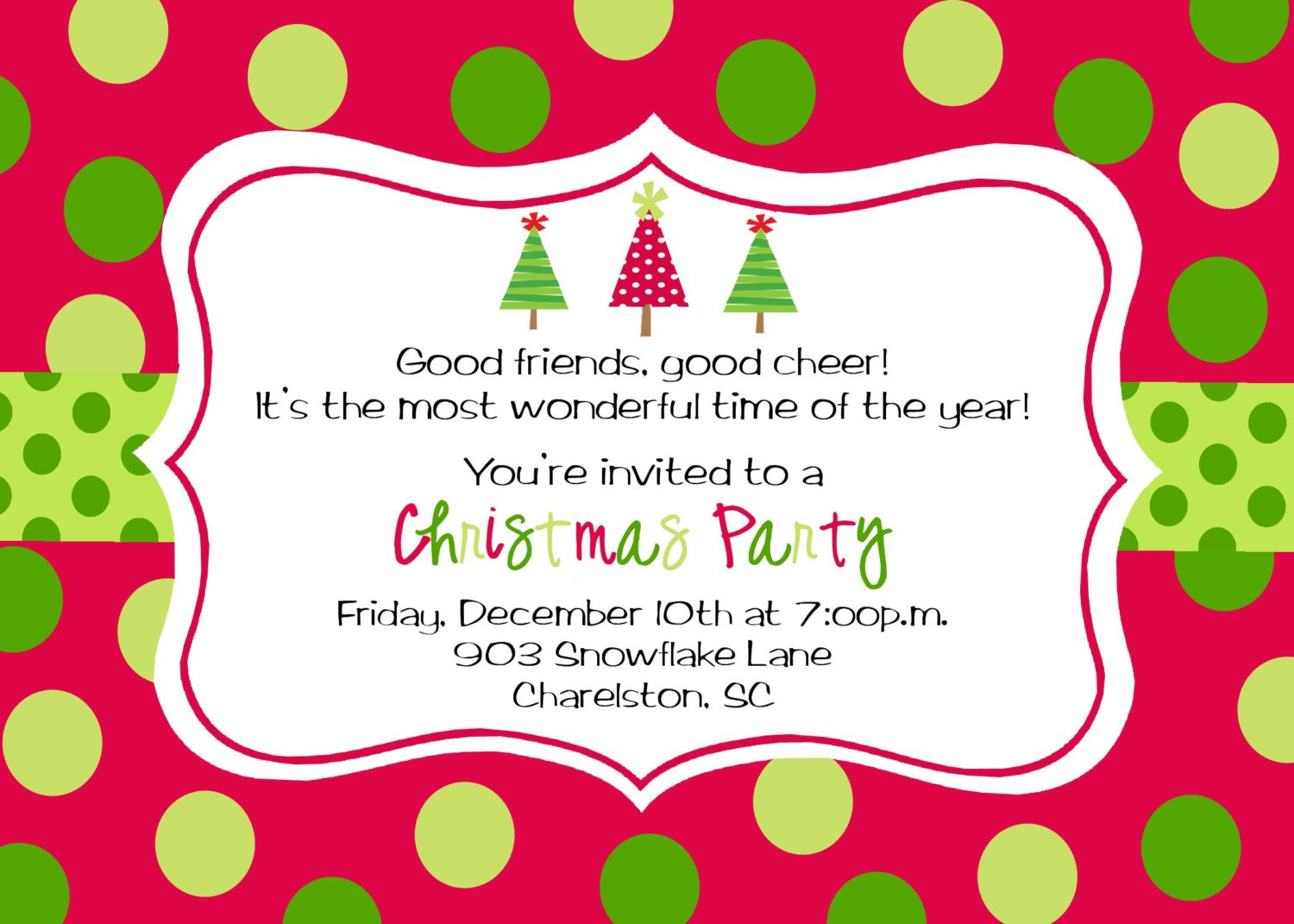 Corporate Christmas Dinner Invitations Wording
