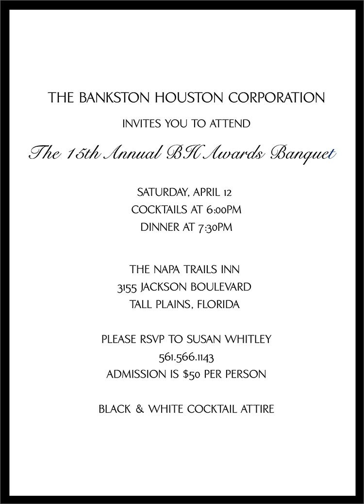 Corporate Dinner Invitation Templates