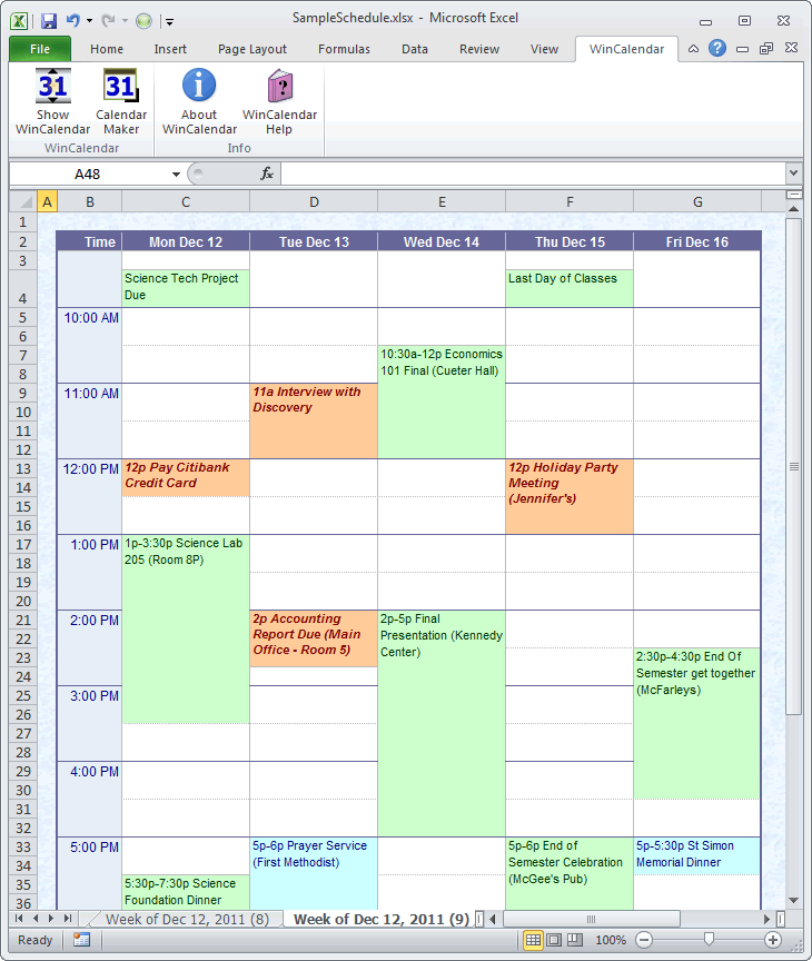 Create A Blank Calendar In Outlook 2010