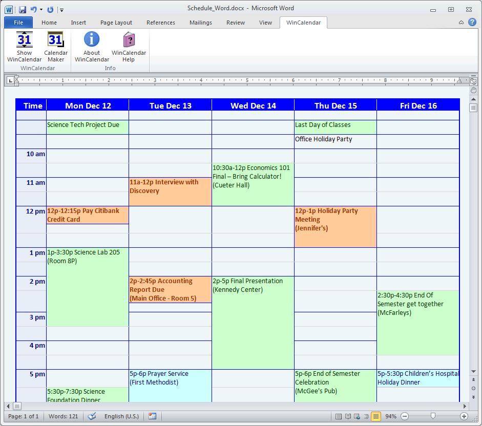 Create A Free Blank Calendar