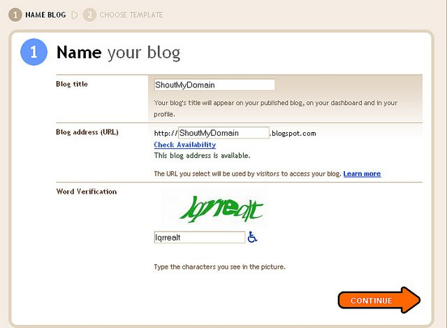 Create A Free Blogspot