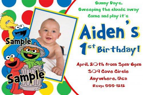 Create Birthday Invitations Elmo