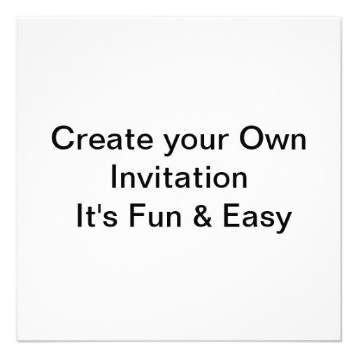 Create Own R Ninvitations For Free