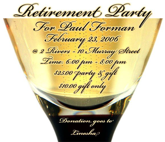 Create Printable Retirement Invitations