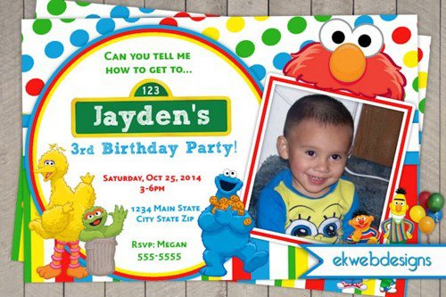 Create Your Own Elmo Birthday Invitations
