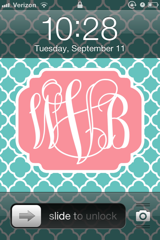 Create Your Own Monogram Wallpaper Free