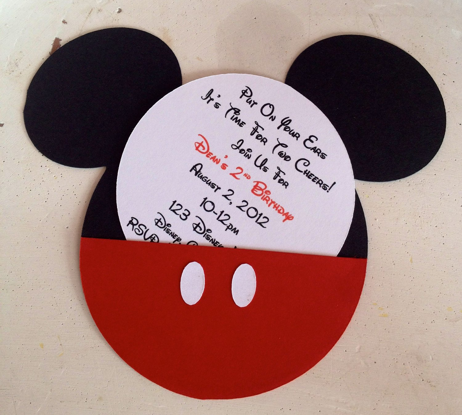 Creative Mickey Mouse Invitations