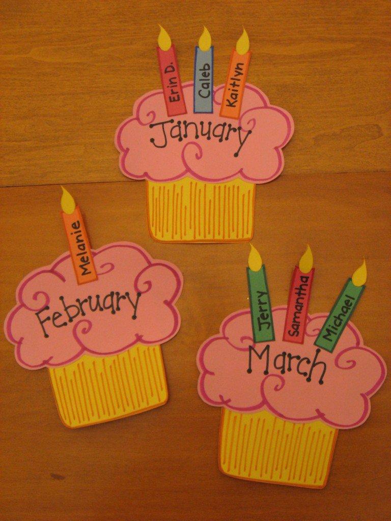 Cupcake Birthday Bulletin Board Ideas