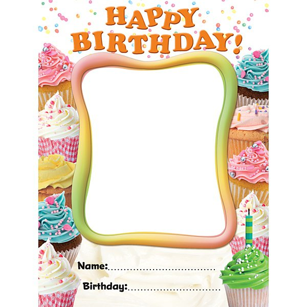 birthday bulletin board templates - cupcake birthday bulletin board templates