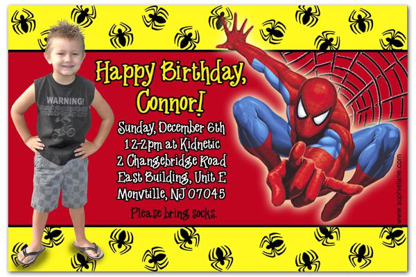 Custom Spider-man Birthday Invitations
