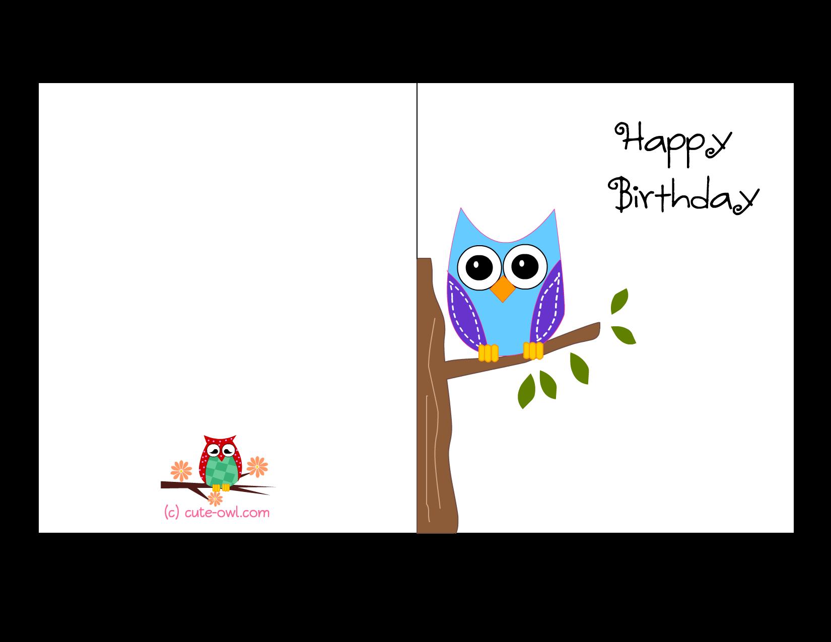 Cute Printable Birthday Cards