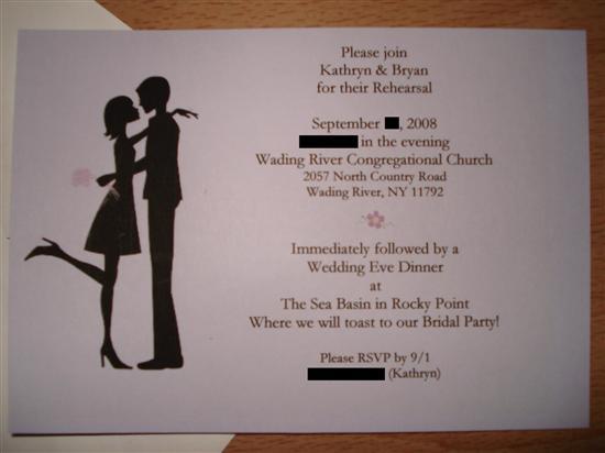 Cute Wedding Rehearsal Dinner Invitation Wording