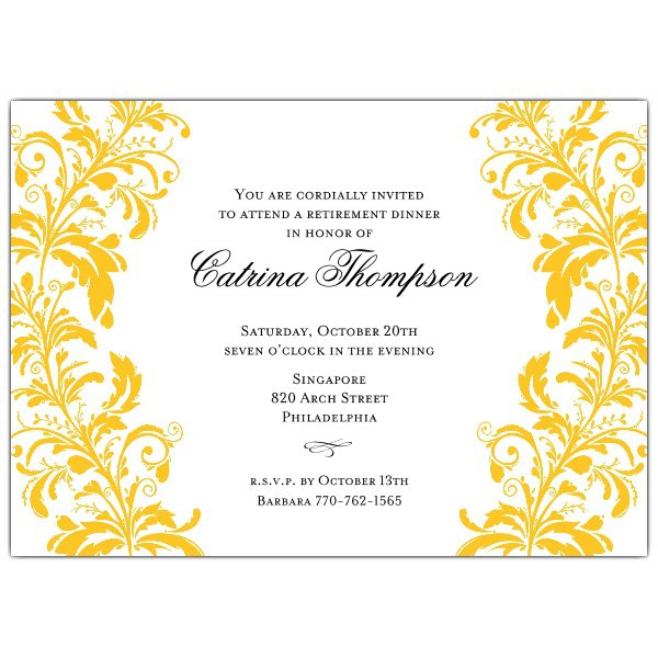 Dinner Invitation Template Printable