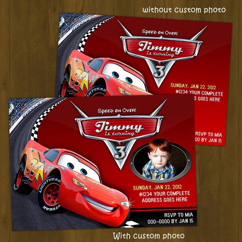 Disney Car Birthday Invitations Printables