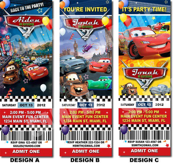 Disney Cars Invitation Templates