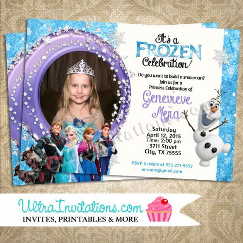 Disney Frozen Birthday Invitations Template