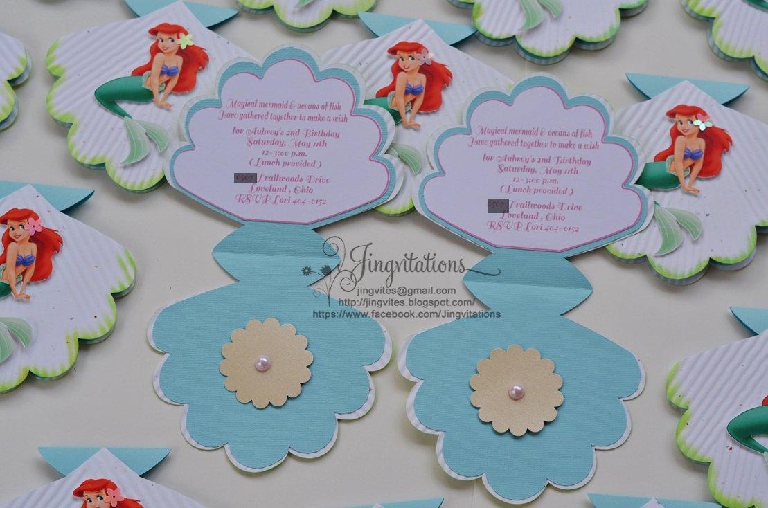 Disney Little Mermaid Printable Invitations