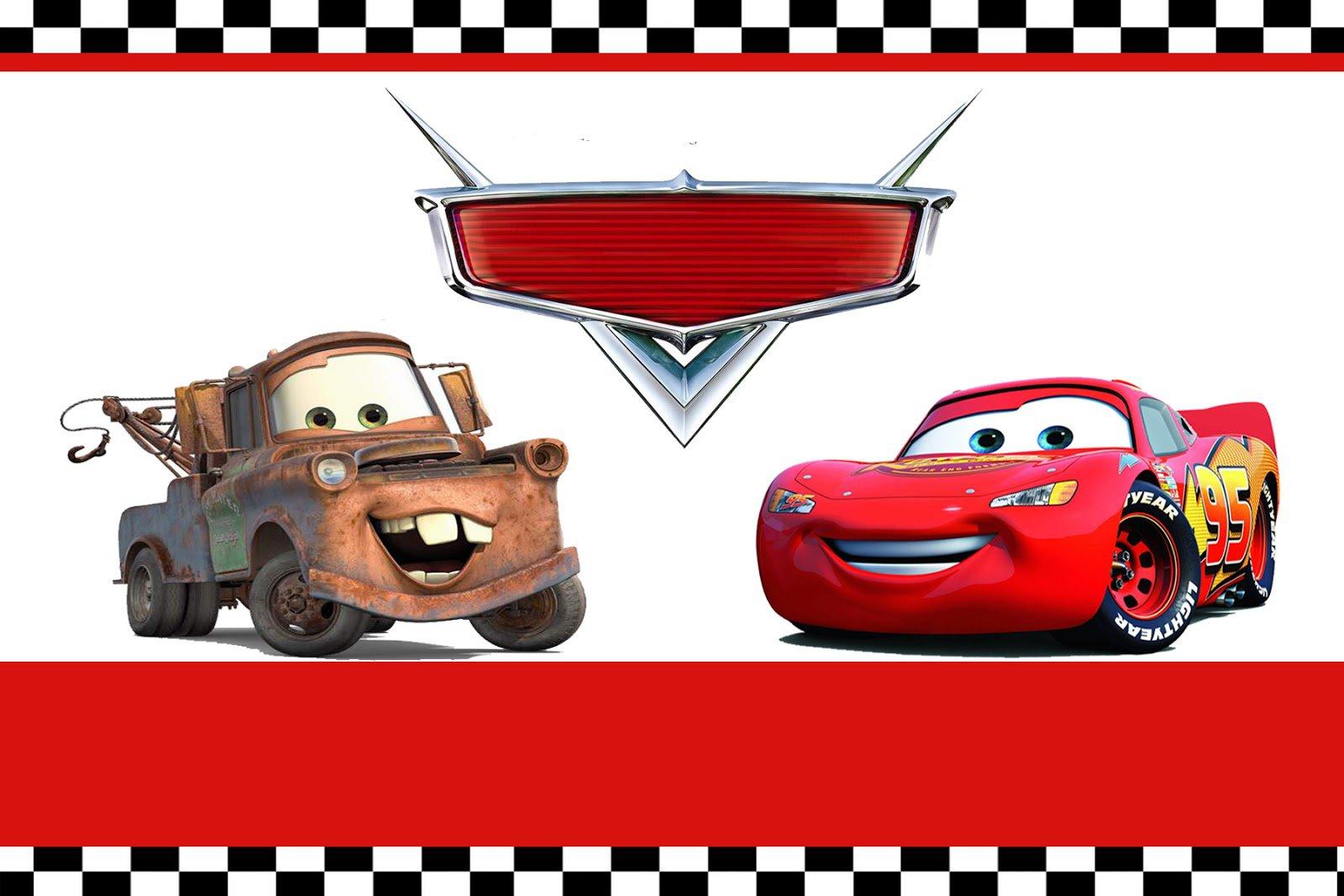 Disney Pixar Cars Birthday Invitations