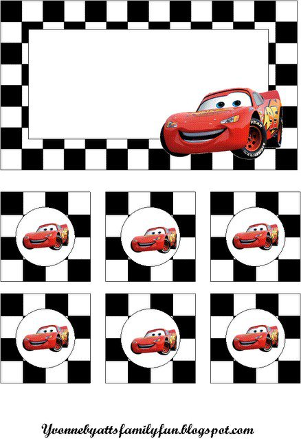 Disney Pixar Cars Invitation Template