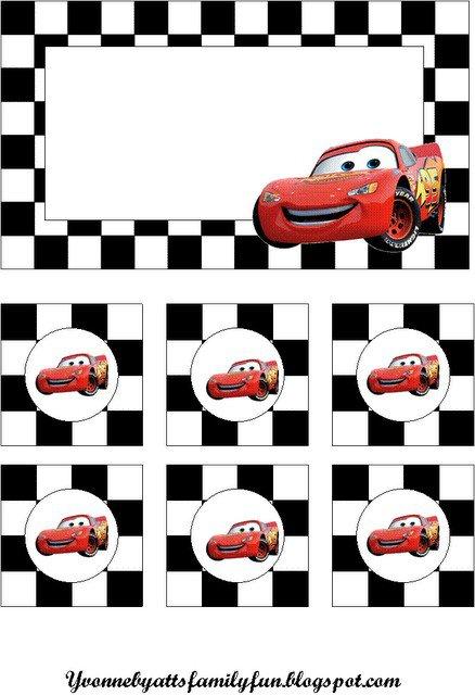 Disney Pixar Cars Invitation Template