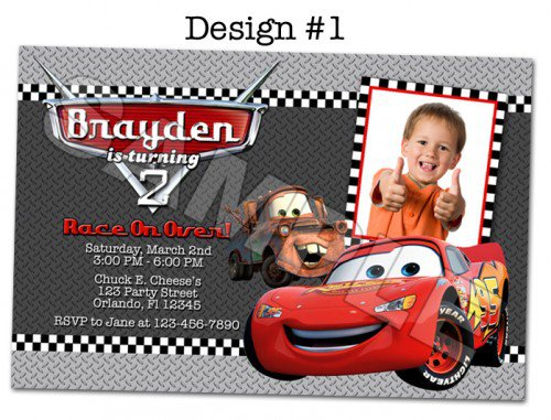 Disney Pixar Cars Invitations