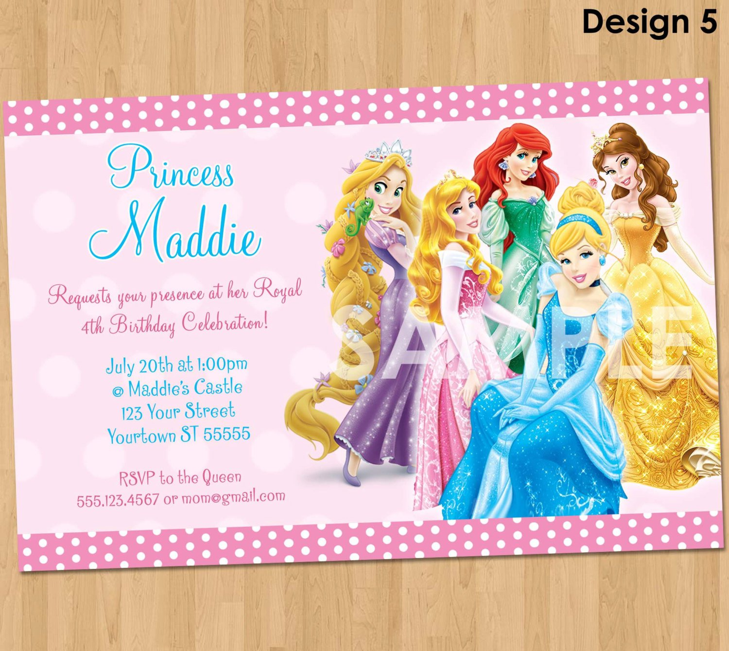 Disney Princess Invitation Maker Free