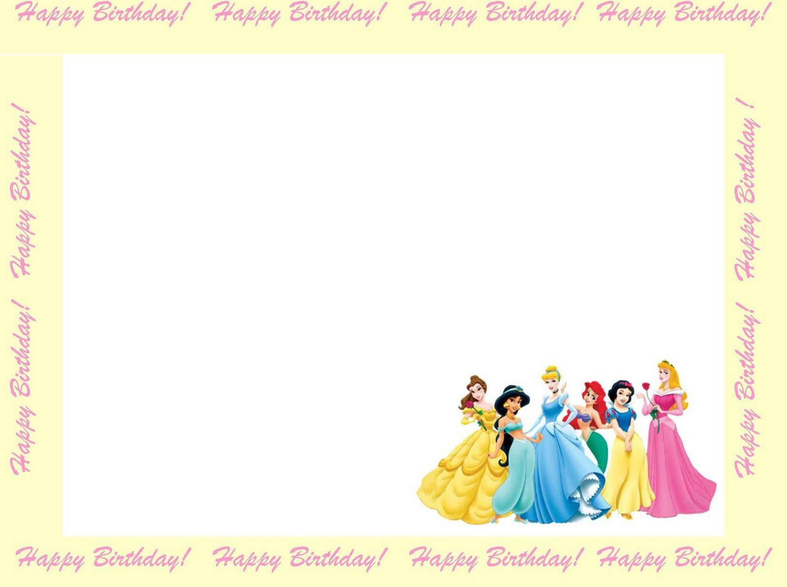Princess Templates Pertaminico - Princess birthday invitation templates free