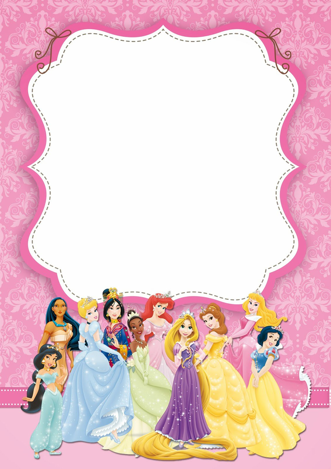 Disney Princess Invitations Free Download