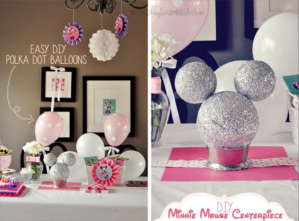 Diy Minnie Mouse Centerpiece Ideas