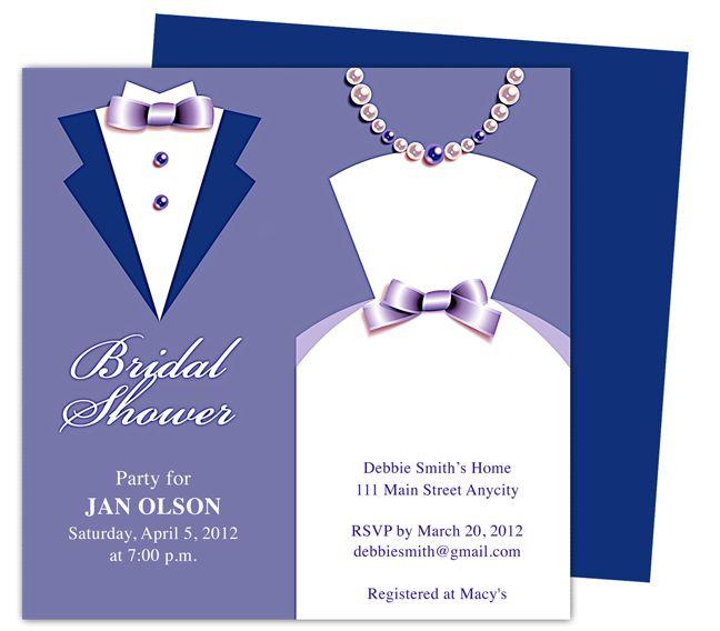 Diy Printable Bridal Shower Invitation Templates