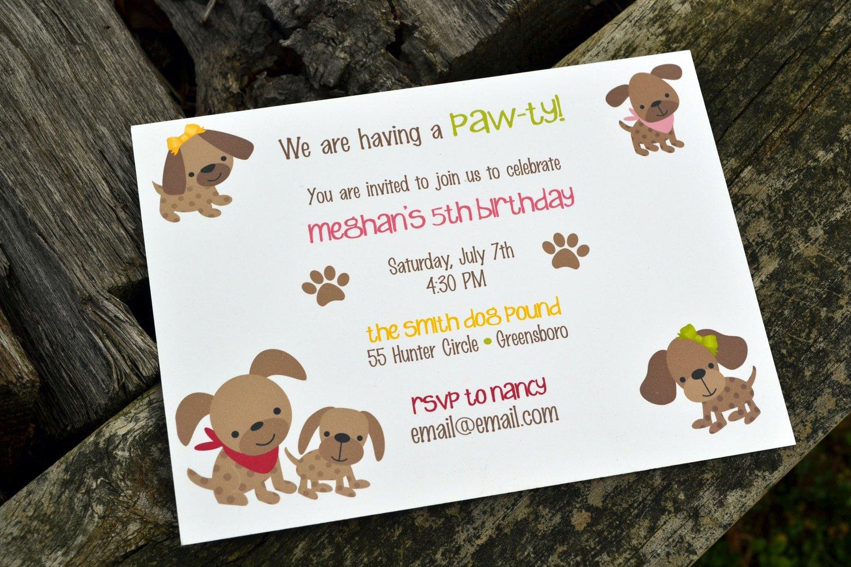 Dog Birthday Invitation Wording